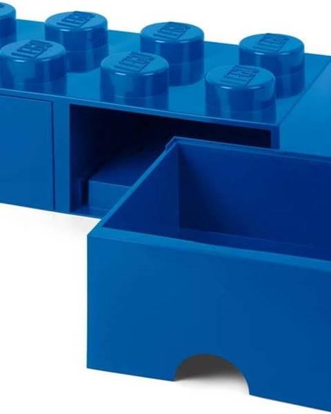 LEGO Tmavě modrý úložný box se dvěma šuplíky LEGO®