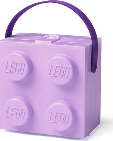 Fialový úložný box s rukojetí LEGO®