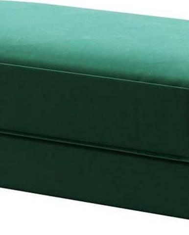 Tmavě zelená sametová podnožka Devichy Laure, 112x60cm
