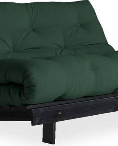 Variabilní pohovka Karup Design Roots Black/Dark Green