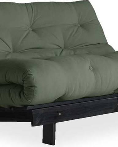 Variabilní pohovka Karup Design Roots Black/Olive Green