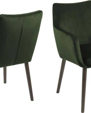 Zelená jídelní židle Actona Nora