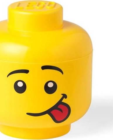 Žlutý úložný box ve tvaru hlavy LEGO® Silly, ⌀ 16,3 cm