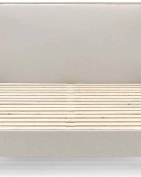Bobochic Paris Béžová dvoulůžková postel Bobochic Paris Sary Dark, 160 x 200 cm