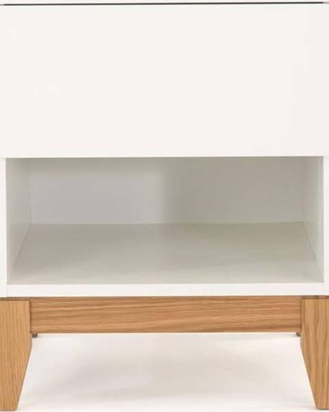 Woodman Bílý odkládací stolek Woodman Blanco