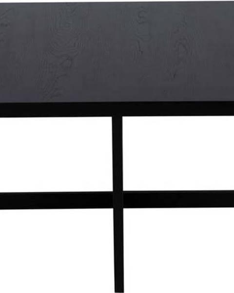 Canett Černý konferenční stolek z dubového dřeva Canett Elliot, 100 x 100 cm