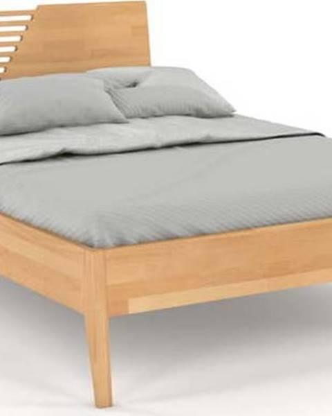SKANDICA Dvoulůžková postel z bukového dřeva Skandica Visby Wolomin, 180x200cm