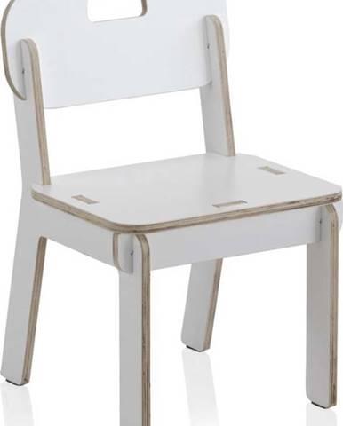 Bílá dětská židle z překližky Geese Piper