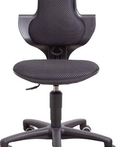 Černá dětská otočná židle na kolečkách Flexa Study