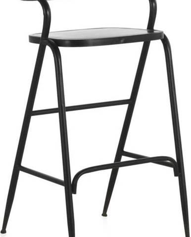 Černá kovová stolička Geese Industrial Style