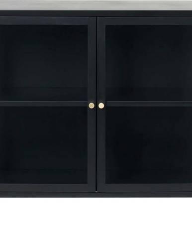 Černá vitrína Unique Furniture Carmel,délka90cm