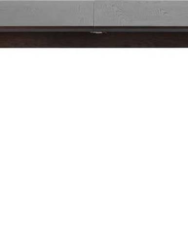 Černý rozkládací jídelní stůl Unique Furniture Latina,180x90cm