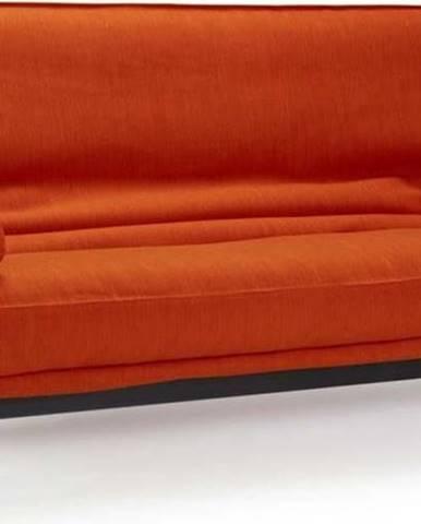 Červená rozkládací pohovka se snímatelným potahem Innovation Fraction Elegance Paprika, 97x200cm