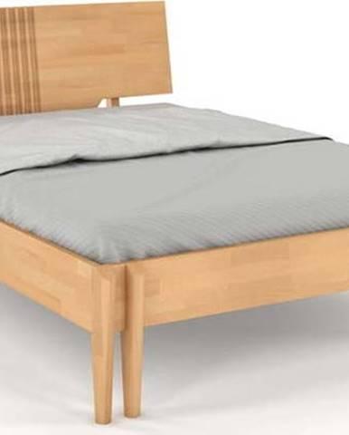 Dvoulůžková postel z bukového dřeva Skandica Visby Poznan, 140x200cm
