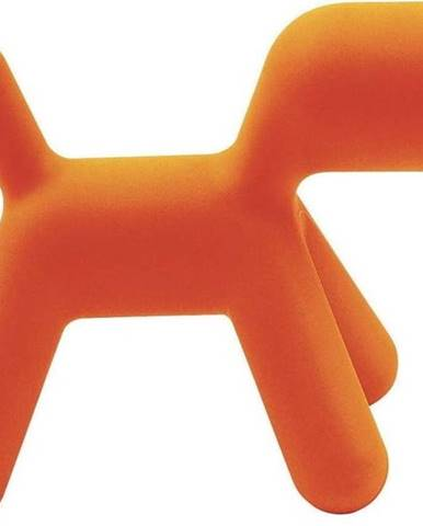 Oranžová dětská stolička ve tvaru psa Magis Puppy, výška34,5cm