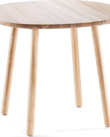 Přírodní jídelní stůl z masivu EMKO Naïve, ⌀ 90 cm