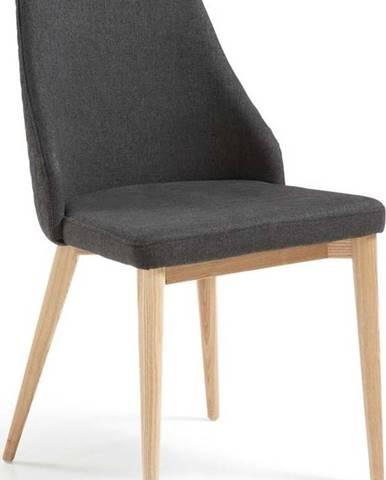 Sada 2 tmavě šedých jídelních židlí La Forma Roxie
