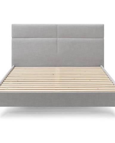 Šedá dvoulůžková postel Bobochic Paris Elyna Light, 180 x 200 cm