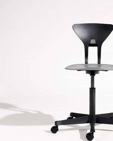 Šedo-černá dětská otočná židle na kolečkách Flexa Ray