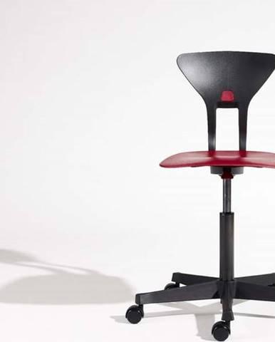 Šedo-červená dětská otočná židle na kolečkách Flexa Ray