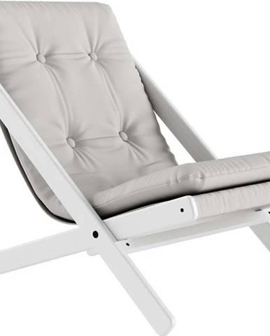 Skládací křeslo Karup Design Boogie White/Light Grey