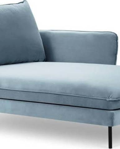 Světlé modrá sametová lenoška Cosmopolitan Design Vienna, pravý roh
