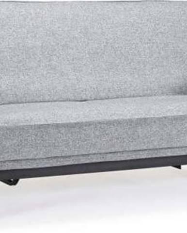 Světle šedá rozkládací pohovka se snímatelným potahem Innovation Aslak Elegant Twist Granite, 92x200cm