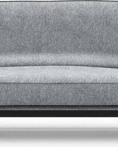 Světle šedá rozkládací pohovka se snímatelným potahem Innovation Balder Twist Granite, 97x230cm