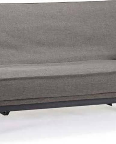 Tmavě šedá rozkládací pohovka se snímatelným potahem Innovation Aslak Elegant Flashtex Dark Grey, 92x200cm