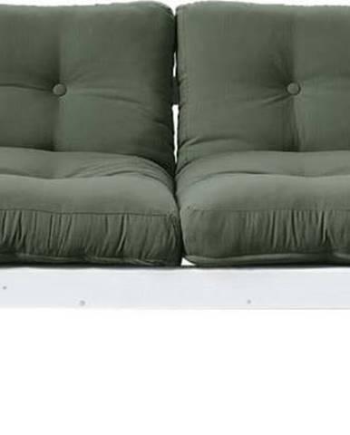 Variabilní pohovka Karup Design Step White/Olive Green