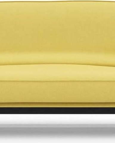 Žlutá rozkládací pohovka se snímatelným potahem Innovation Balder Soft Mustard Flower, 97x230cm
