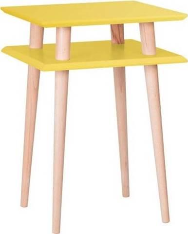 Žlutý odkládací stolek Ragaba Square, 43x43cm