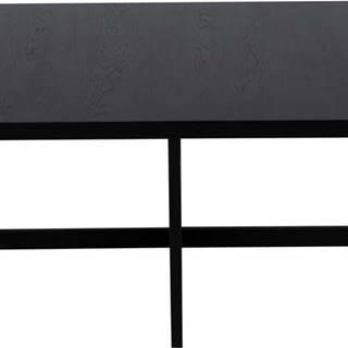 Černý konferenční stolek z dubového dřeva Canett Elliot, 100 x 100 cm