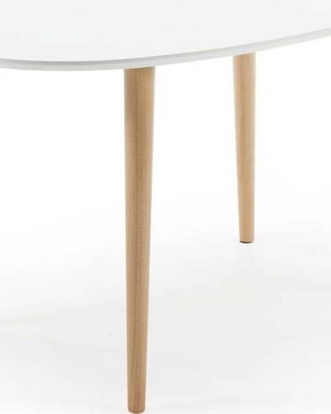 La Forma Rozkládací jídelní stůl z bukového dřeva La Forma Oakland, 140 x 90 cm