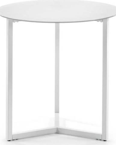 Bílý odkládací stolek La Forma Marae, ⌀50cm