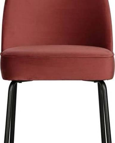 Červená jídelní židle BePureHome Vogue Chestnut
