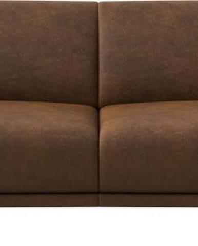 Hnědá pohovka z imitace kůže MESONICA Puzo, 170 cm