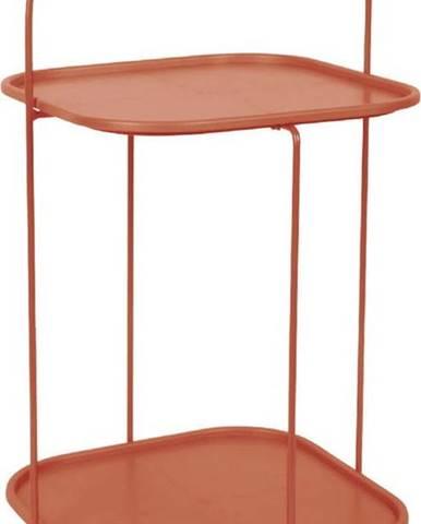 Jílově hnědý odkládací stolek Leitmotiv Trays