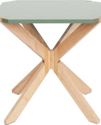 Mátově zelený odkládací stolek Leitmotiv Mister, 45x45cm