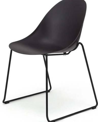 Sada 2 černých jídelních židlí Le Bonom Viva