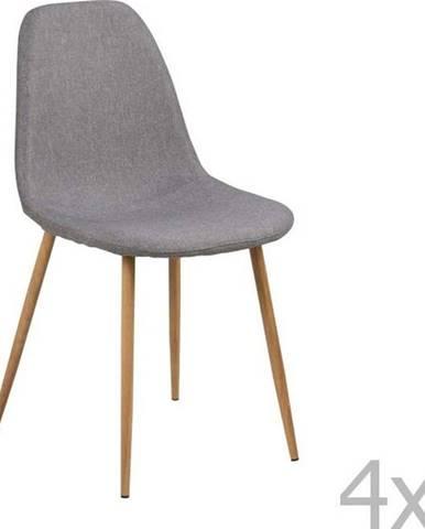 Sada 4 světle šedých jídelních židlí Actona Wilma Sawana