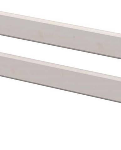 Šedá bezpečnostní zábrana z borovicového dřeva k dětské posteli Flexa Classic, délka116 cm