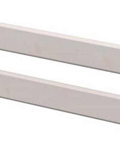 Šedá bezpečnostní zábrana z borovicového dřeva k dětské posteli Flexa Classic, délka157 cm