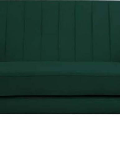 Tmavě zelená sametová pohovka Mazzini Sofas Benito, 158 cm