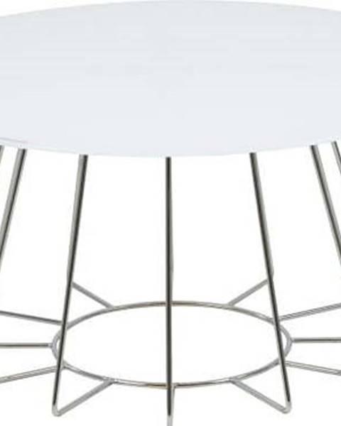 Actona Bílý konferenční stolek Actona Casia, ⌀ 80 cm