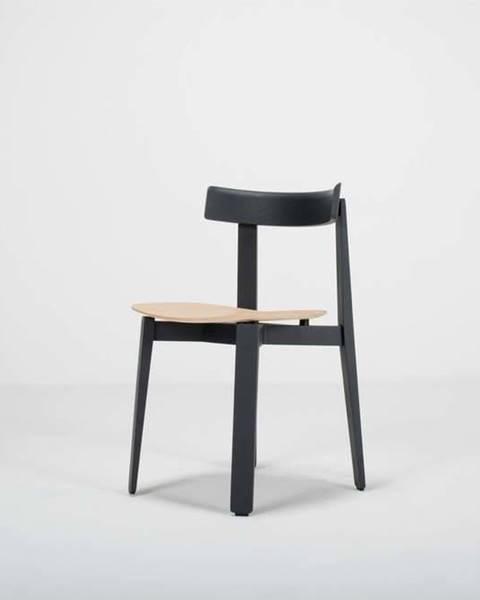 Gazzda Černá jídelní židle z dubového dřeva Gazzda Nora