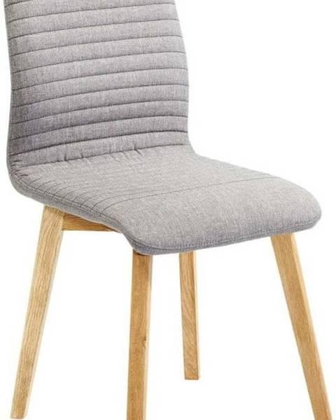 Kare Design Šedá jídelní židle Kare Design Lara