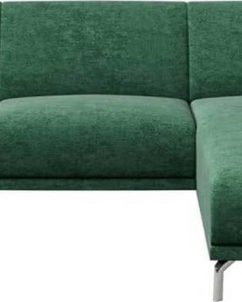 MESONICA Zelená rohová pohovka MESONICA Puzo, pravý roh