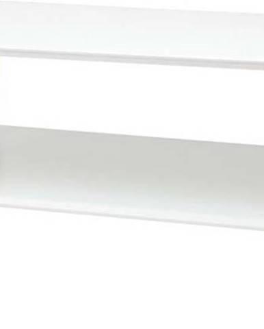 Bílý konferenční stolek se sníženou spodní deskou Ragaba KORO