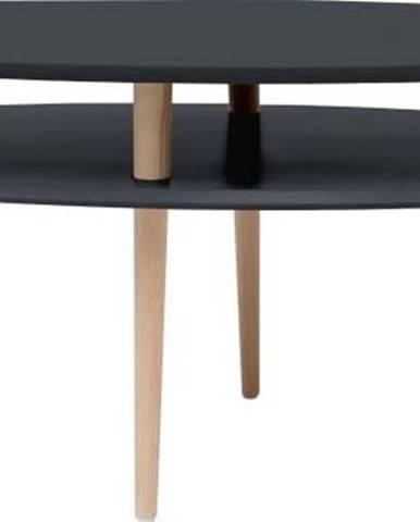 Grafitově šedý konferenční stolek Ragaba OVO
